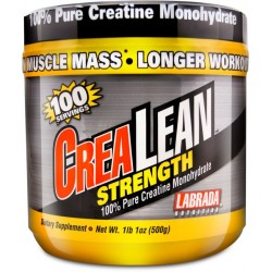 LABRADA - CreaLean Strength, 100% Pure Creatine - 500 grams