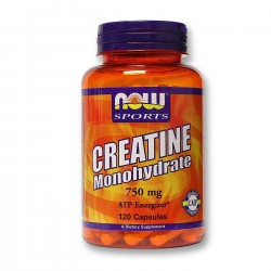 NOW foods creatin monohydrate 750mg